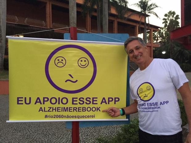 Ex-medalhista olímpico de vôlei, Marcos Vinícius Freire apoia campanha para criar app gratuito sobre Alzheimer
