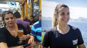 Monique antes e depois: 10 anos após se curar de miocardite, ela encontrou no aplicativo outro ritmo para se superar (Fotomontagem: Divulgação)