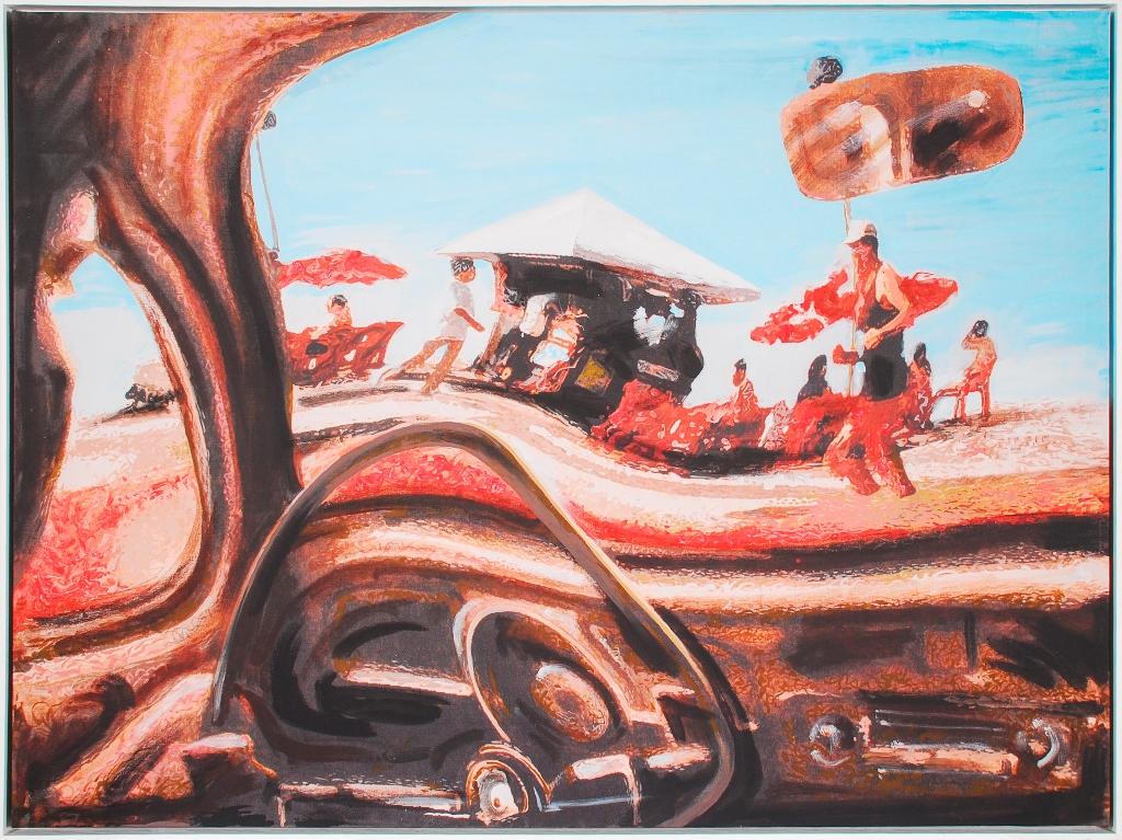 Obra do artista plástico Dainiel Azulay ficou exposta no Kinoplex  Tijuca (Foto: Divulgação)