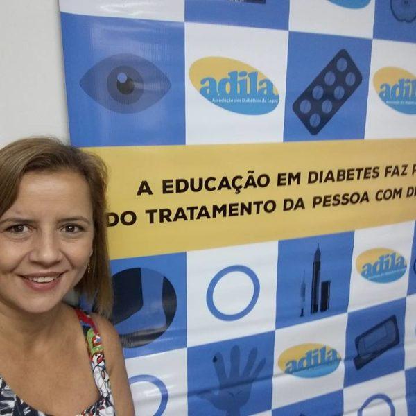 Sheila se tornou uma das principais atividades da causa do diabetes no Rio de Janeiro (Foto: Acervo pessoal)